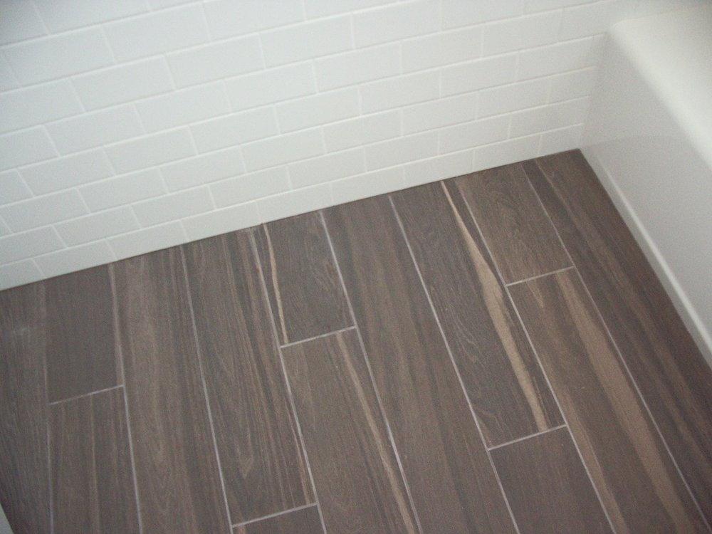 Look how neat where the floor and wall tile and tub meet. - Yelp