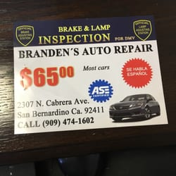 Branden's Brake & Lamp Inspection - Car Inspectors - 2307 N ...