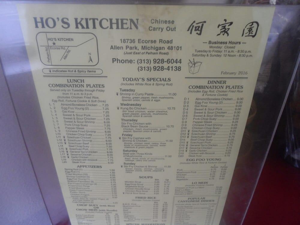 Ho S Kitchen Allen Park Phone Number