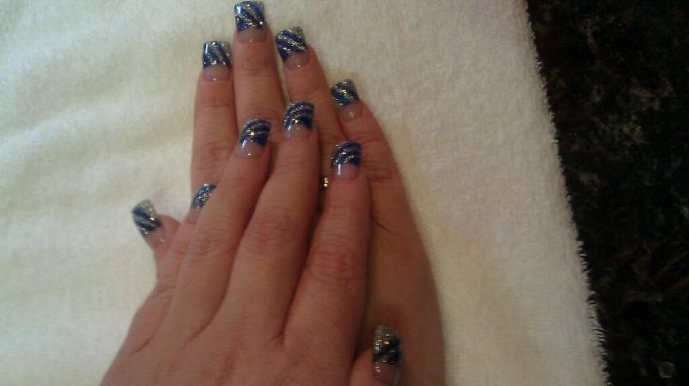 Fancy nail design by Tam! Tam is so creative, he can make just about ...
