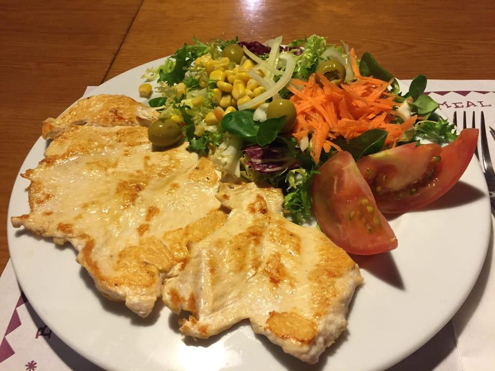 Segundo plato del men laborable pechuga de pollo a la - Platos con pechuga de pollo ...