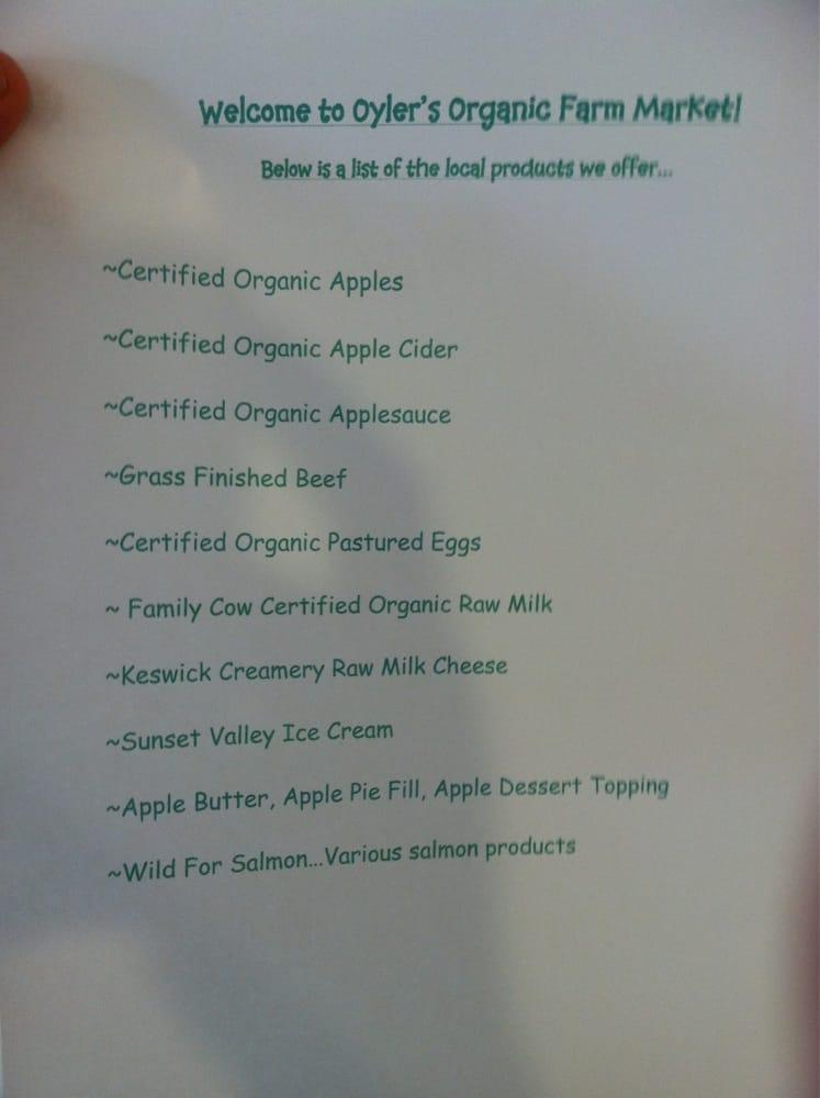 Oyler's Organic Farm: 400 Pleasant Valley Rd, Biglerville, PA