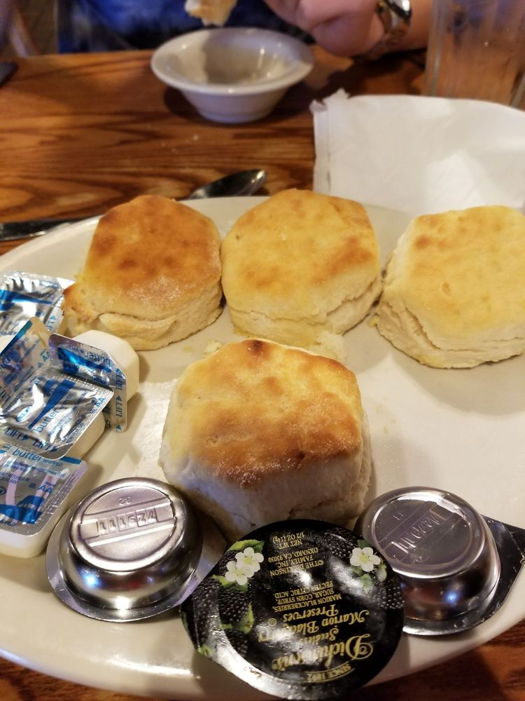 Biscuits are yum ooo yelp for How did cracker barrel get its name