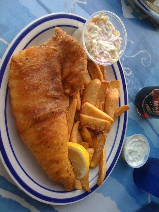 London Style Fish And Chips Nice Light Batter And Very