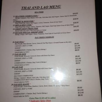Suvans Kitchen Menu Lompoc