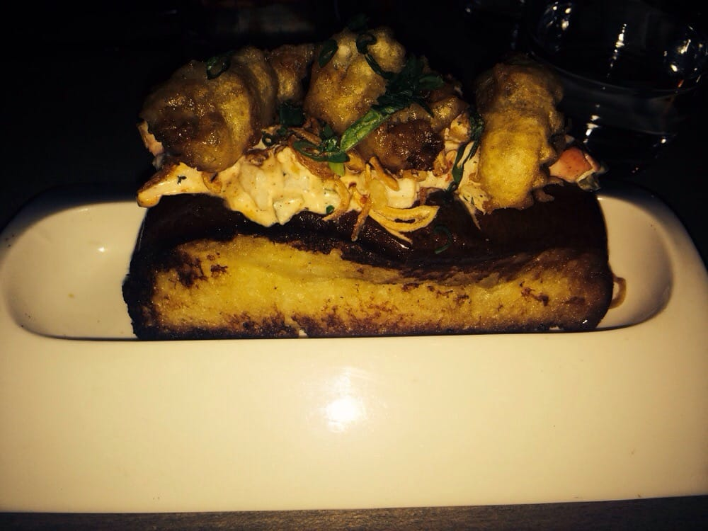 Lobster po boy with fried oysters and foie gras holy for Jj fish and chicken chicago il