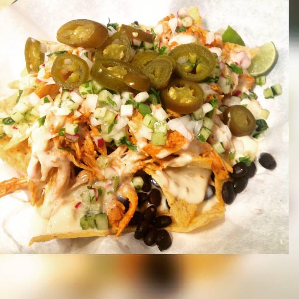 Nestor's Nachos! Served Vegetarian With Queso Blanco