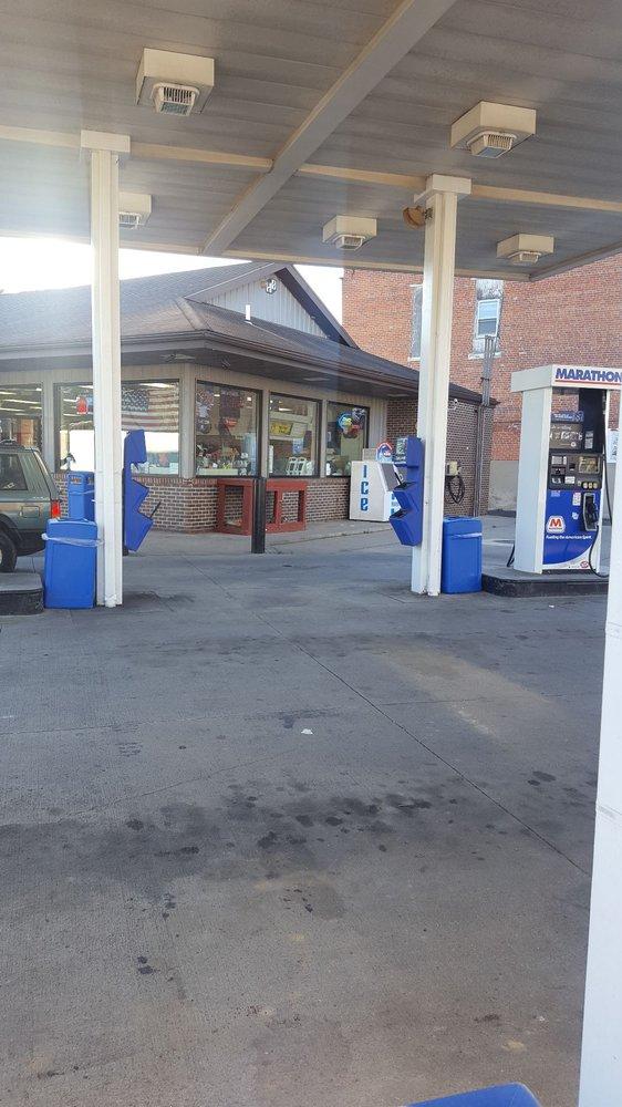 Marathon Gas CJ's Market: 5 S Mill St, Milford Center, OH
