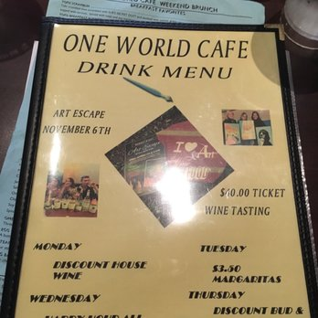 One World Cafe Baltimore Happy Hour