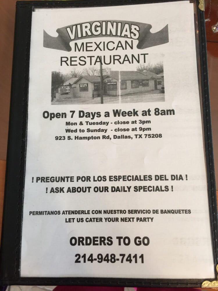 Virginia's Mexican Restaurant: 923 S Hampton Rd, Dallas, TX