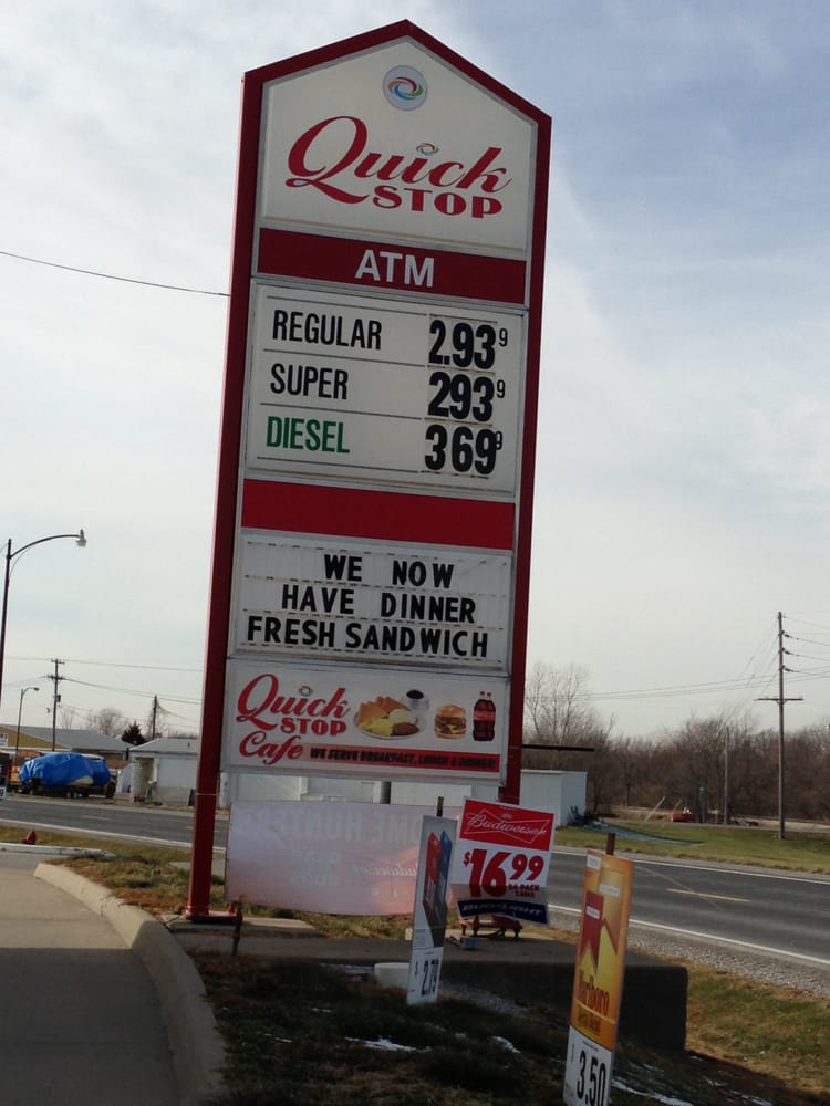 Quick Stop Cafe: 120 Industrial Blvd, Slater, MO