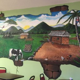 Photo of Tipico Café Latino - Rockledge, FL, United States. Beautiful mural painted on a wall!!!