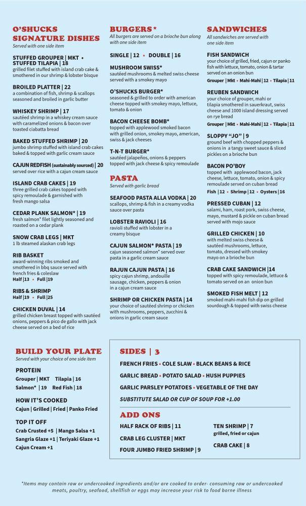 O'Shucks Seafood & Grill - Winder: 108 E May St, Winder, GA
