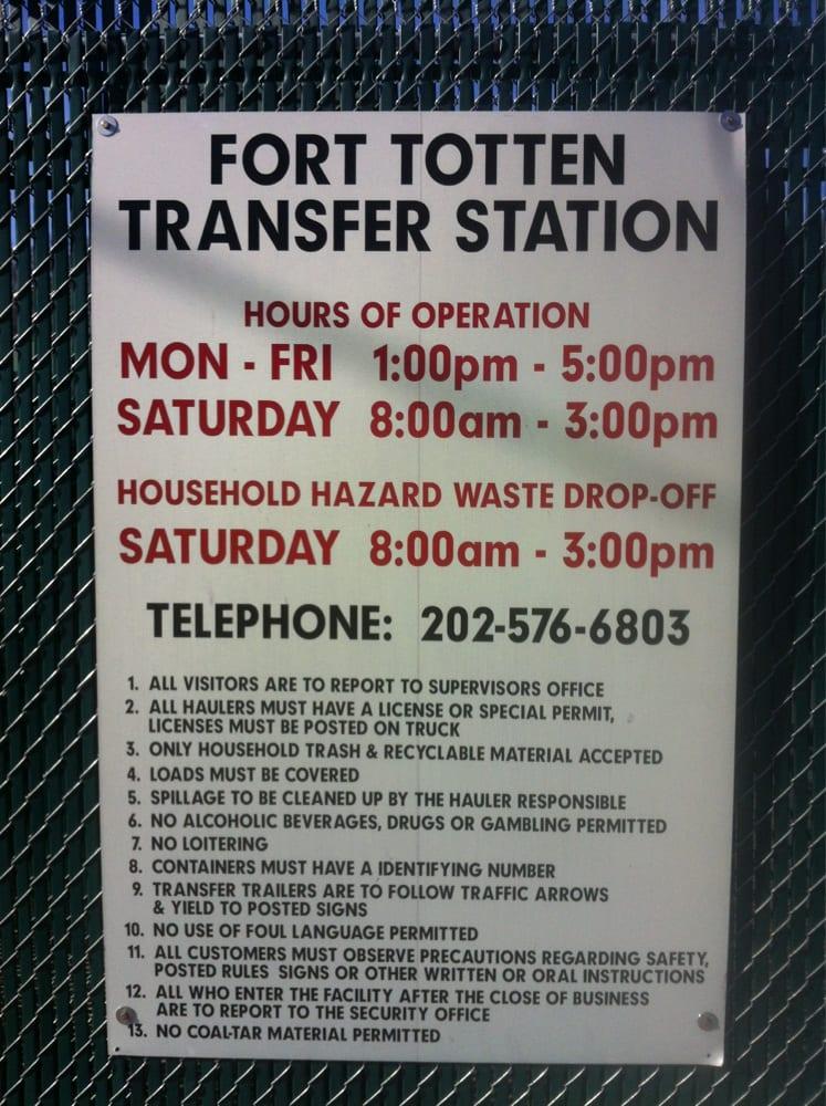 Fort totten trash transfer station photos