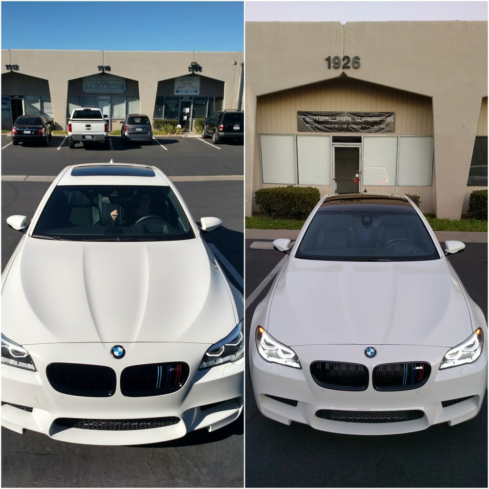 Gloss Black Roof Wrap On A Bmw M5 Yelp