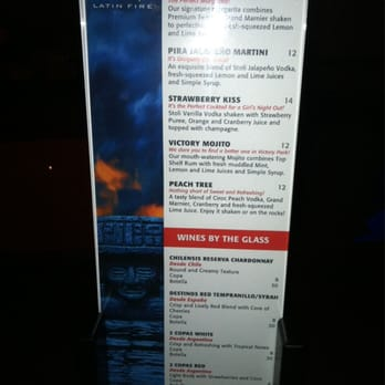 Pira Latin Fire Restaurant Menu
