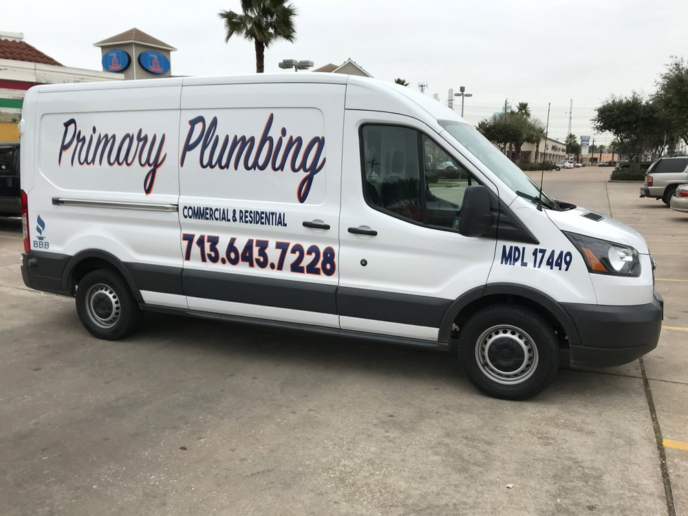 Primary plumbing services plumbing 2722 broad st for Plumber 77080