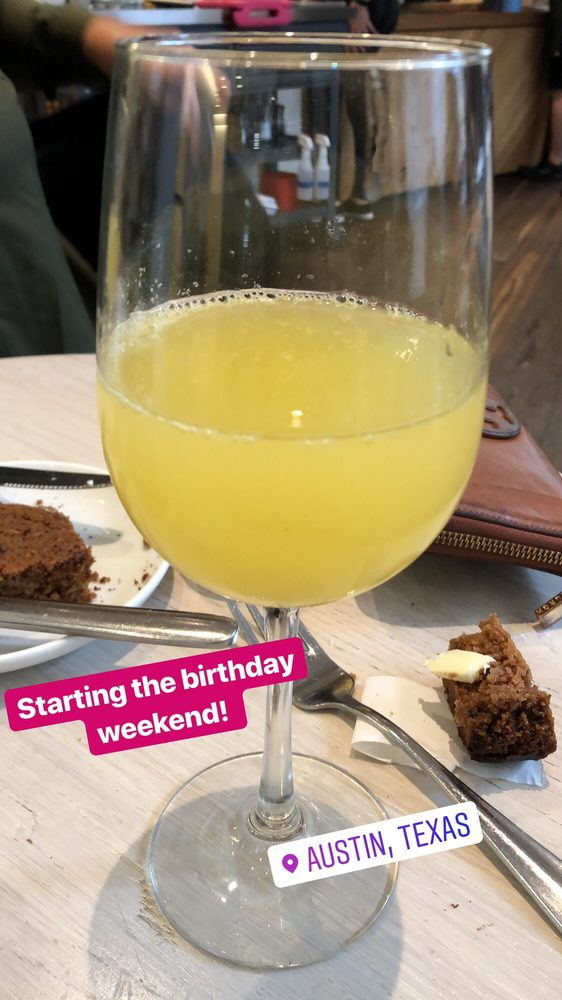 Orange And Pineapple Mimosa Yes It Was My Birthday Lol Yelp