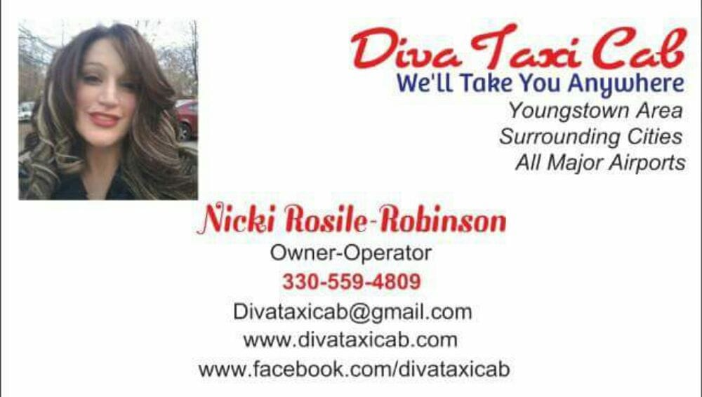 Diva Taxi Cab: 121 Moore St, Hubbard, OH