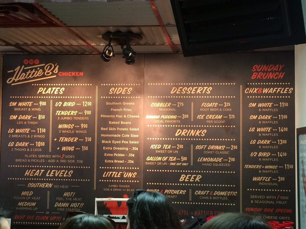 The menu on the wall. February 2016 - Yelp
