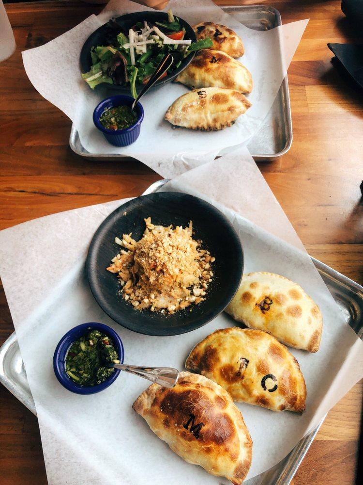 Food from La Masa Empanada Bar