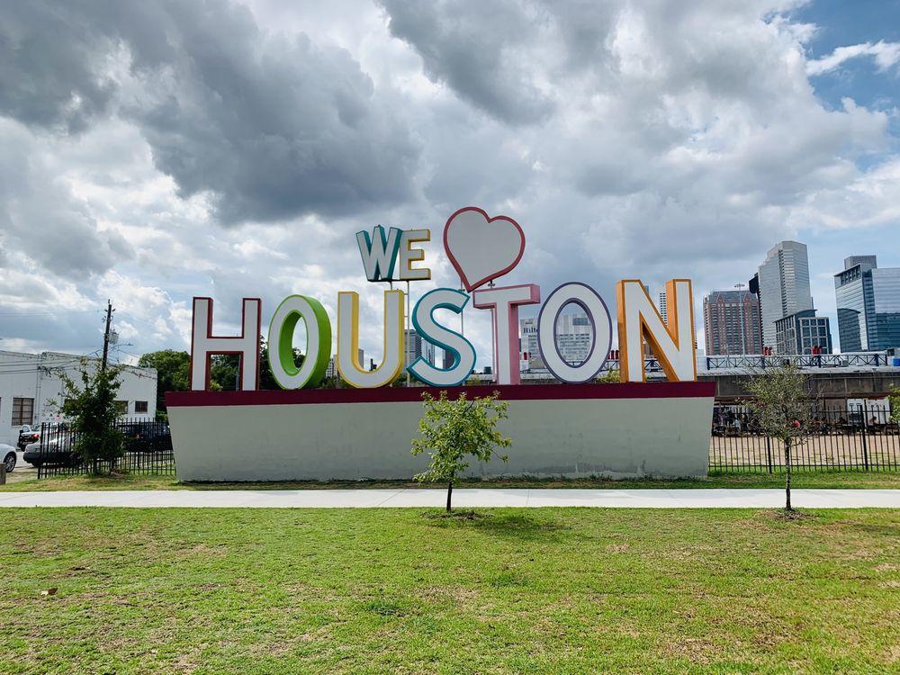 We Love Houston sign
