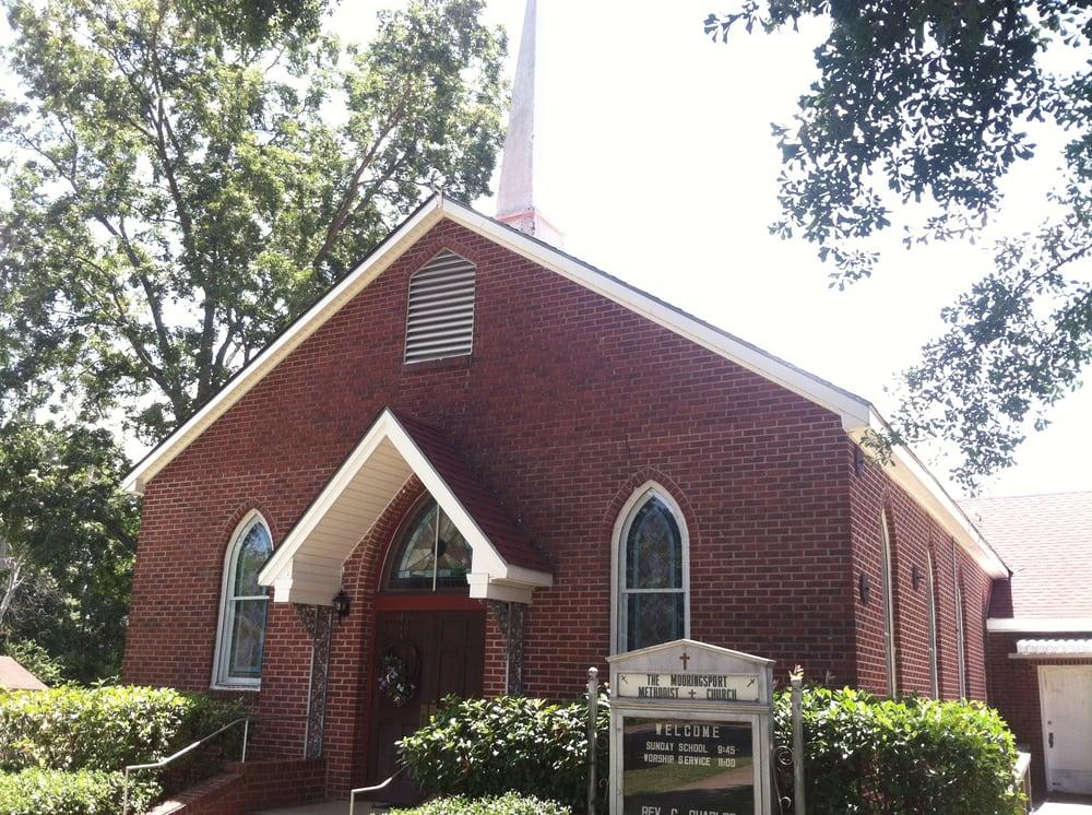 Mooringsport United Methodist Church: 221 Lake St, Mooringsport, LA