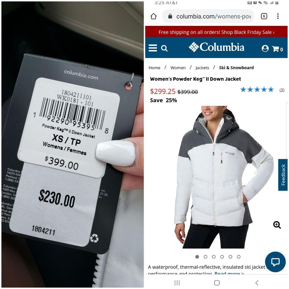 Columbia Sportswear Company Employee Store