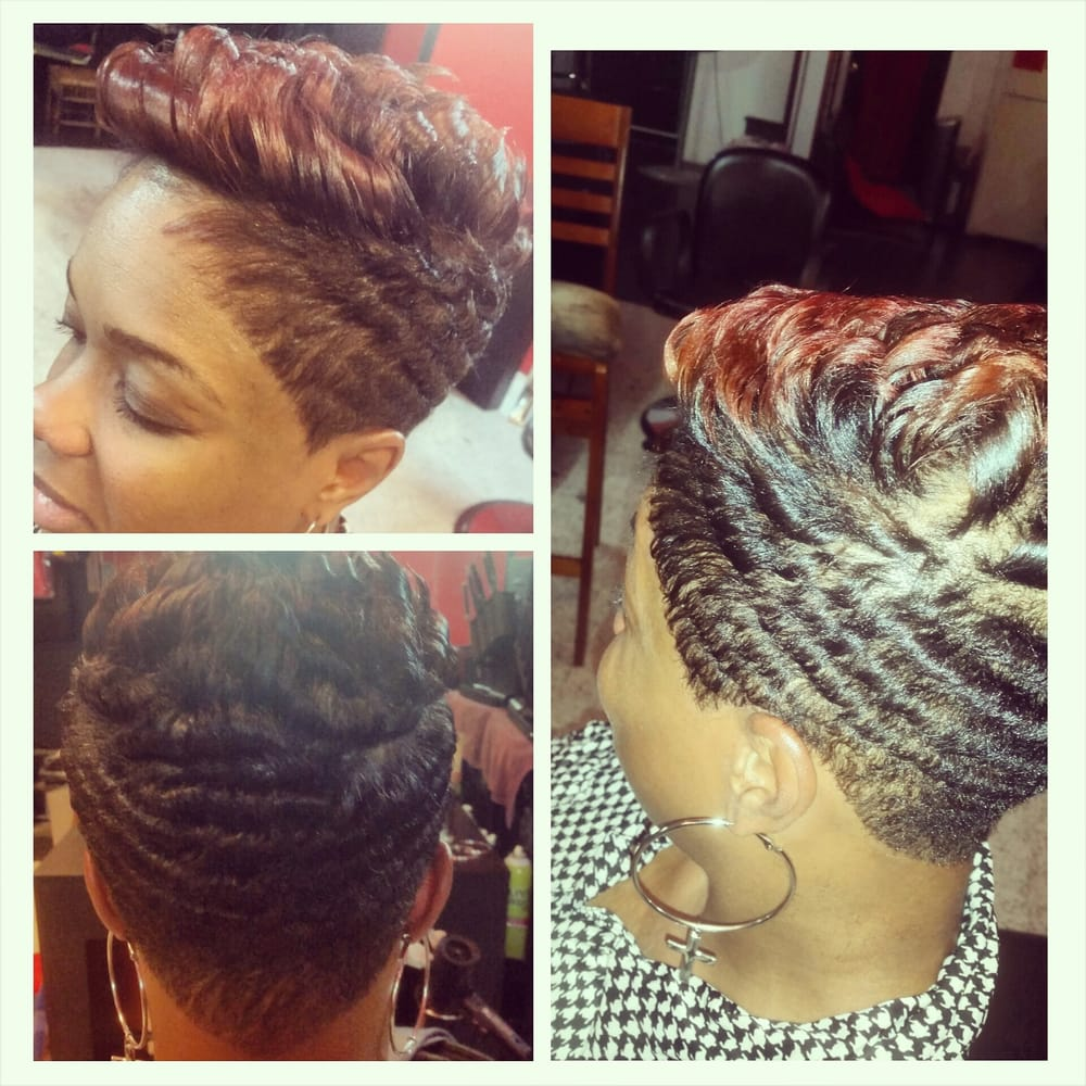Cut Color And Curls She Is Relaxed With Design Essentials Relaxer