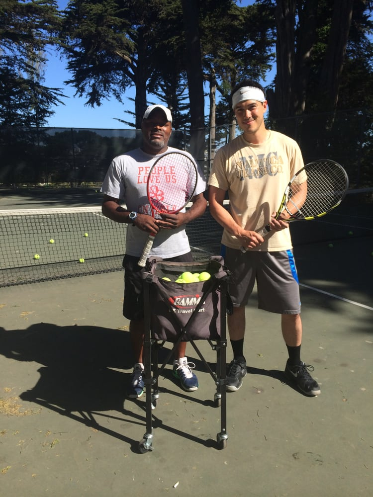 Photo of Tennis Lessons By Mcclain - San Francisco, CA, United States. Coach Mcclain and Christian