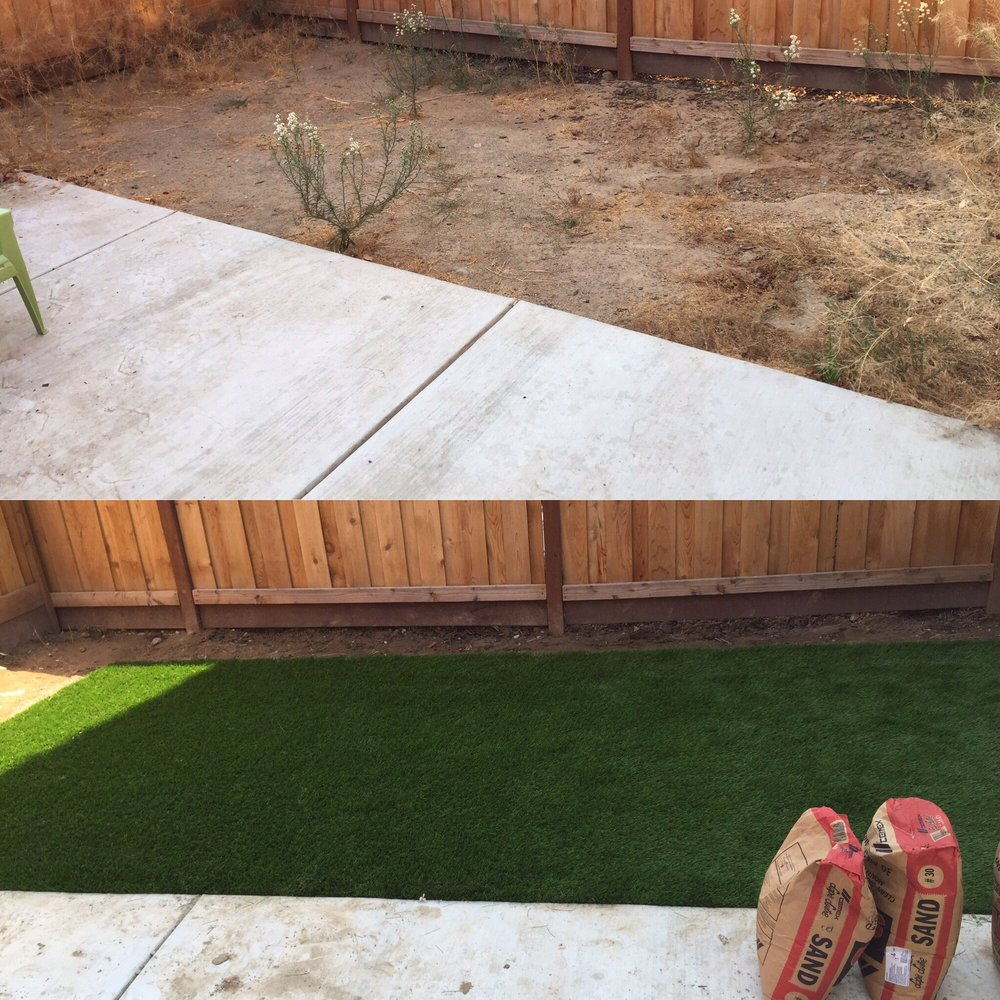 Love my new faux grass took 1 1 2 days to install and Flooring modesto