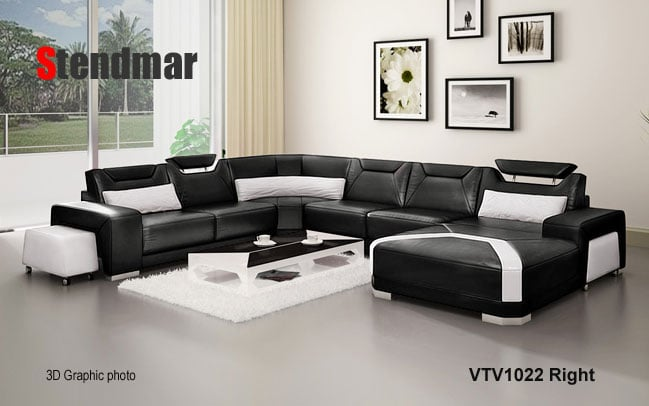Photo Of Stendmar   Ontario, CA, United States. Modern Euro Style Leather  Sectional