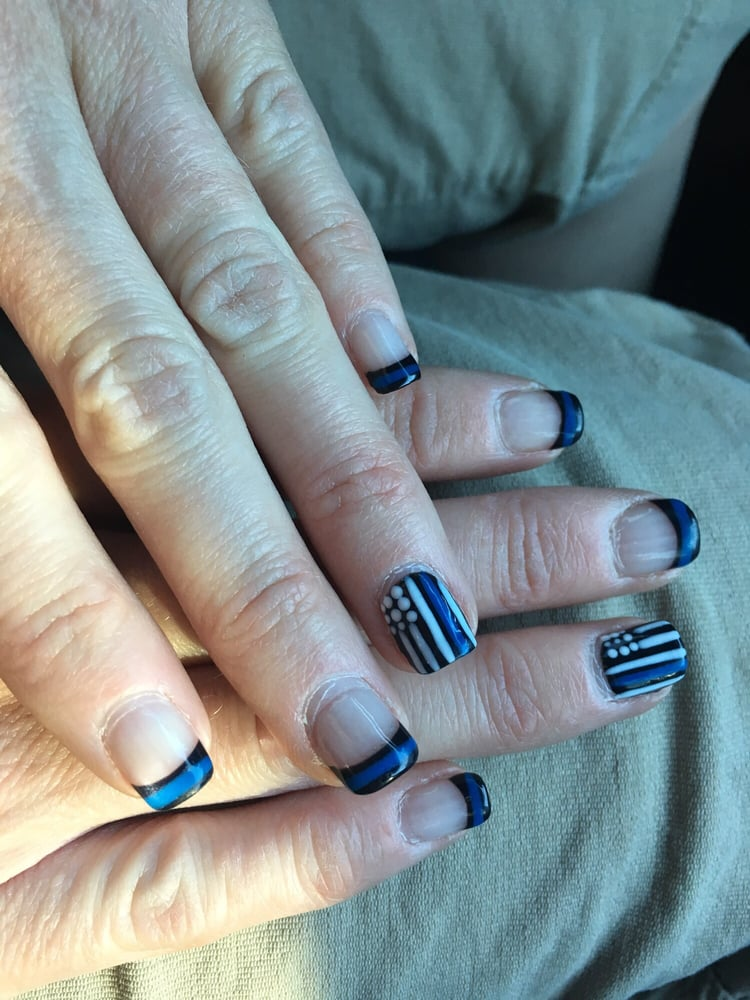 Thin Blue Line nails - Yelp