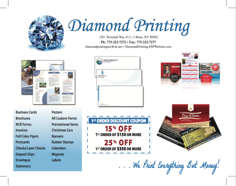 Diamond printing printing services 1201 terminal way reno nv diamond printing printing services 1201 terminal way reno nv phone number yelp reheart Image collections