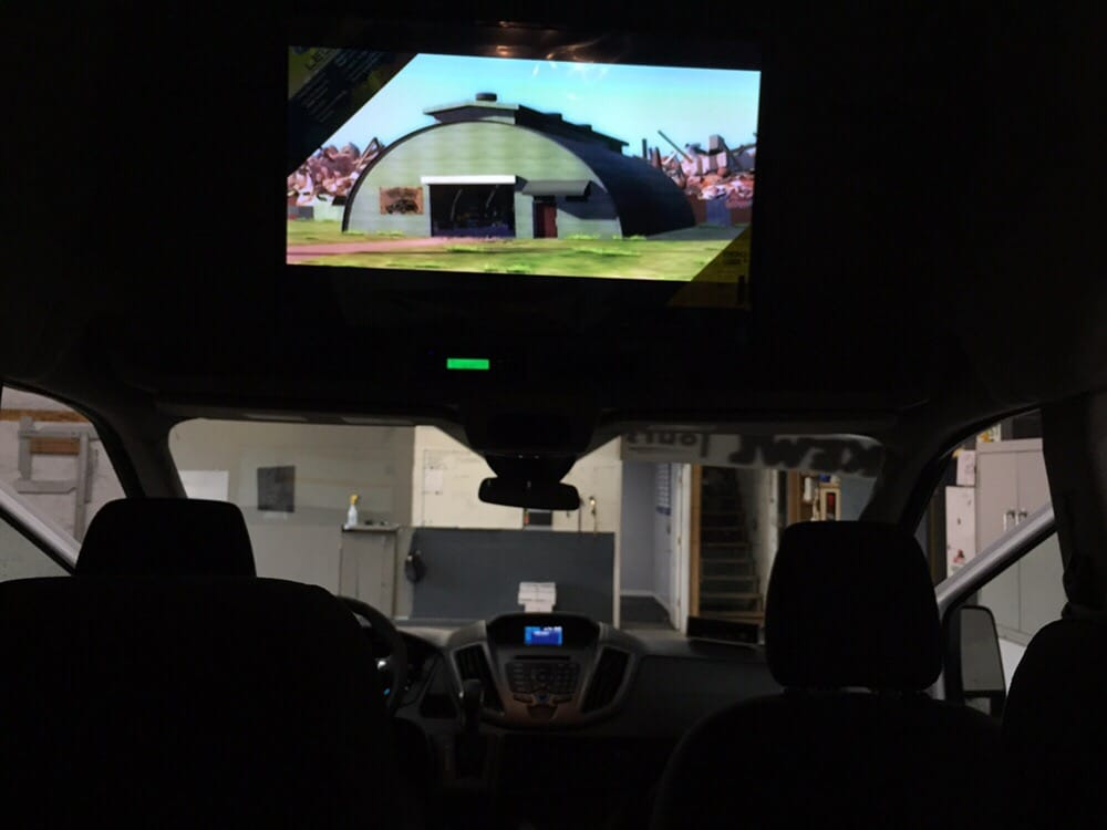 custom tv mount fabricated for a new ford transit yelp. Black Bedroom Furniture Sets. Home Design Ideas
