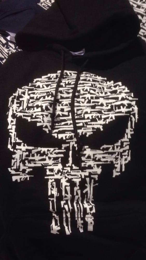Quick draw shirts punisher skull made out of guns yelp photo of friendly fire design plano tx united states quick draw shirts publicscrutiny Gallery
