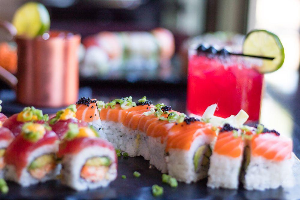Food from Midori Sushi and Martini Lounge