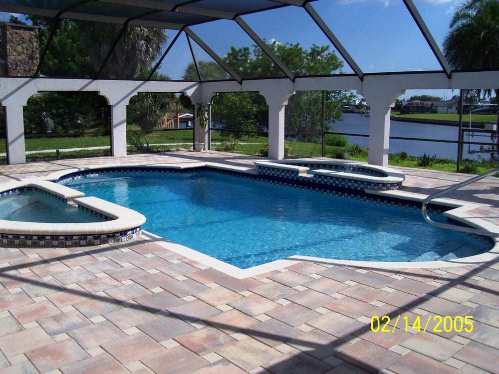 Photo Of Sparkling Kleen Pools Spas Sarasota Fl United States Flagstone