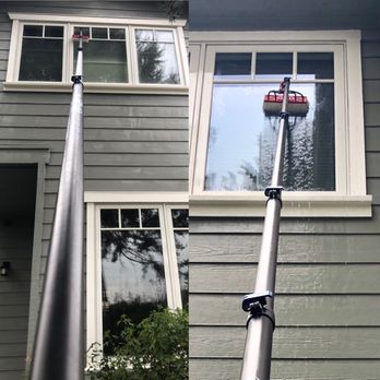 We Use Water Feed Pole To Wash Windows 100 Pure