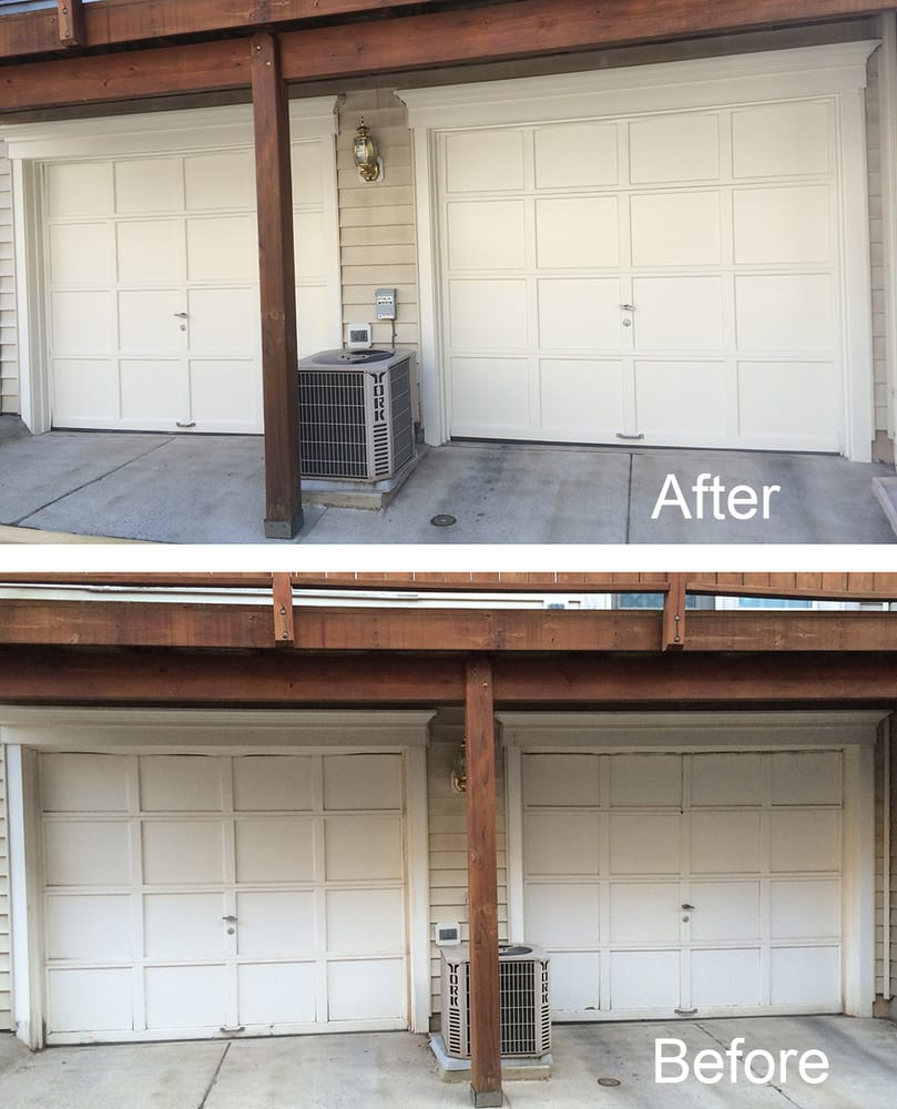 Mr Yawata Restored The Finish On My Garage Doors Wood Trim And