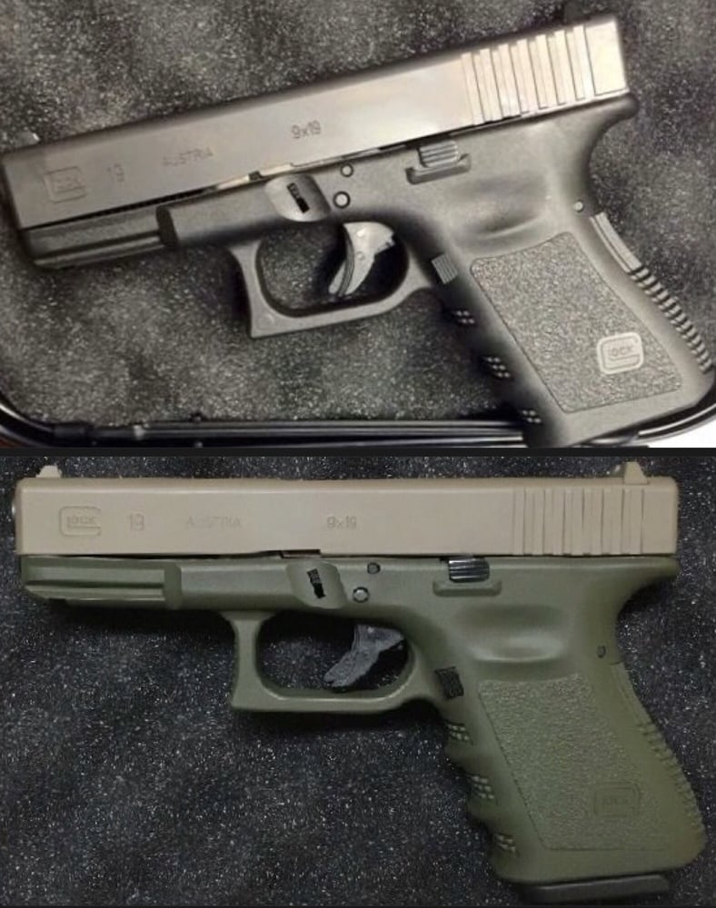 Before and After Glock 19 Gen 3 OD Frame, FDE Slide - Yelp