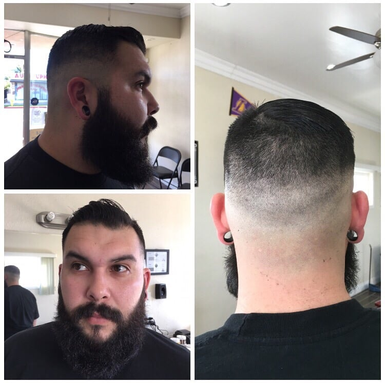 High razor fade with combover and beard trim yelp photo of the clipper lounge bellflower ca united states high razor fade urmus Gallery