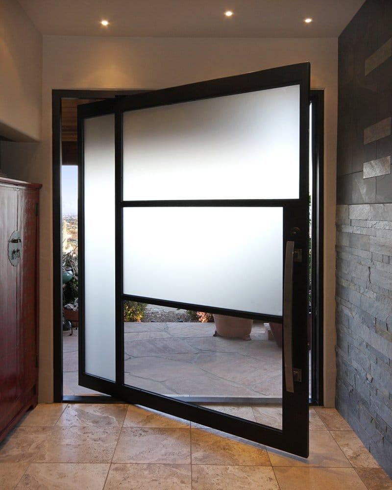 Contemporary Steel Pivot Door