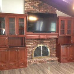 Charmant Photo Of Cleary Custom Cabinets   Hicksville, NY, United States. Cherry  Fireplace Wall