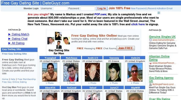 Free gay site passwords