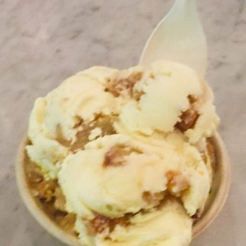 ... Pistachio brittle and ooey, gooey butter cake ice cream from Ample