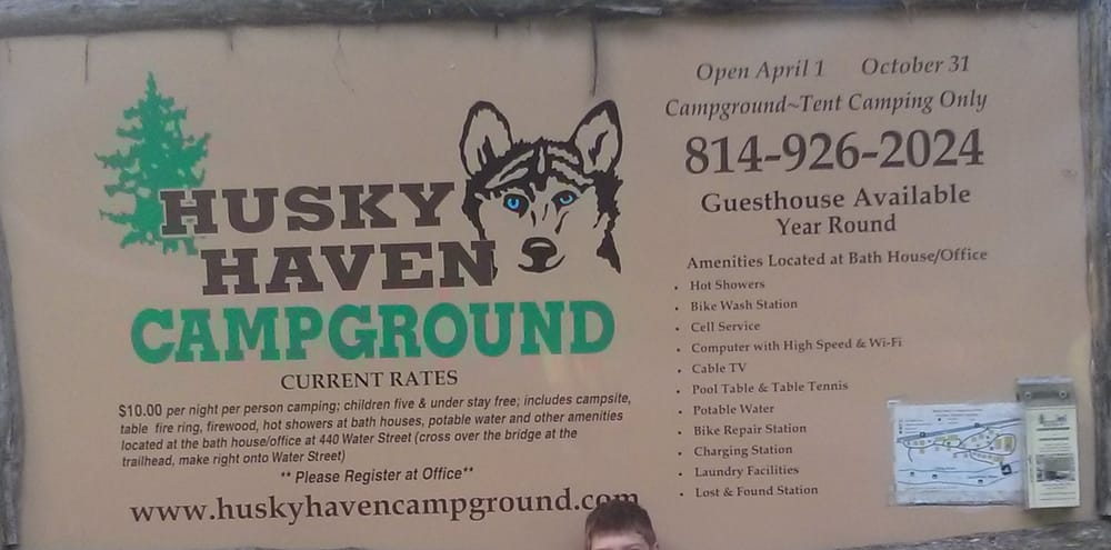 Husky Haven Campground & Guesthouse: 440 Water St, Rockwood, PA