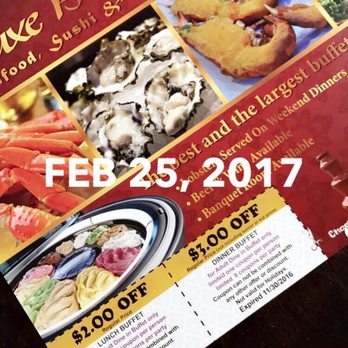 photo about The Luxe Buffet Printable Coupon referred to as The luxe buffet discount coupons : True Wholesale