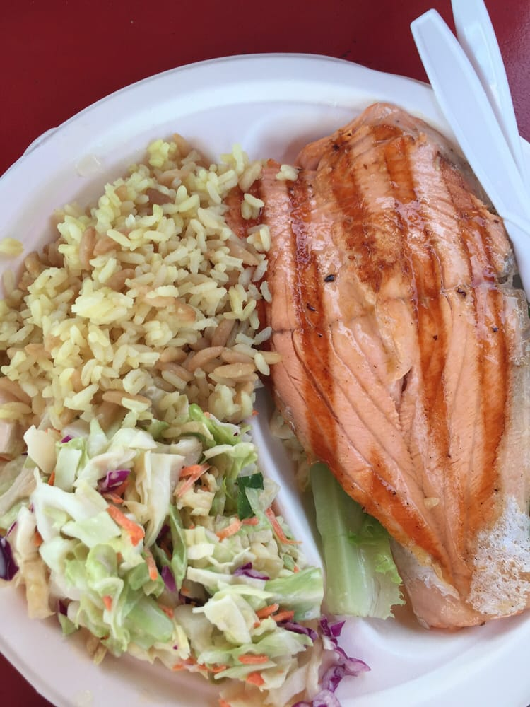 Salmon grilled fish plate yelp for Malibu seafood fresh fish market patio cafe