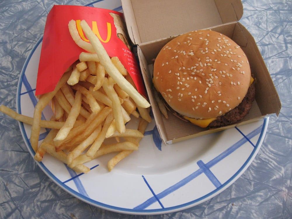 Quarter Pounder And Fries Quarter Pounder with C...